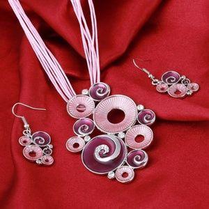 Jewelry - Avant-Garde Geometric Pendant & Earring Set